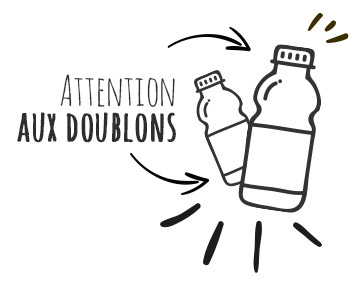 Attention aux doublons
