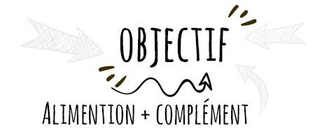 Objectif = Alimentation + compléments