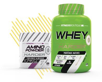 Whey Protéine et Amino Harder Bodytime