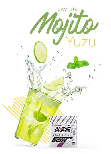 Amino Powder Harder Mojito et Yuzu