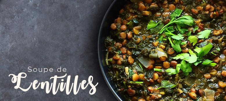 Recette Healthy de Soupe de Lentilles