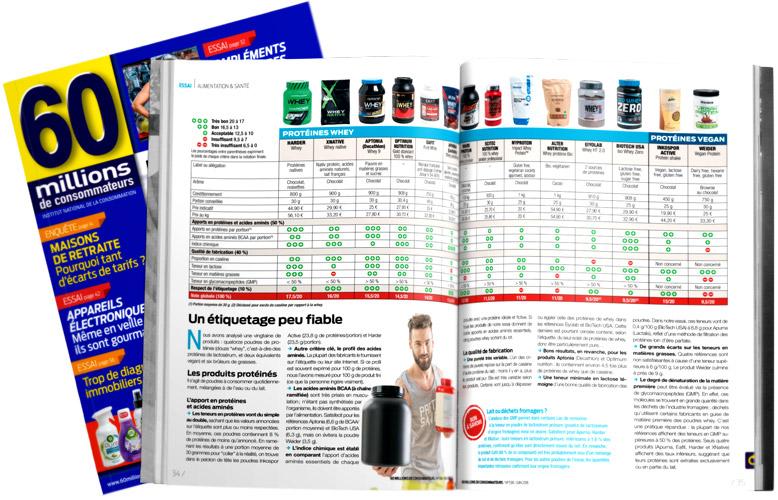 Classement des meilleurs Whey Proteine - FitnessBoutique