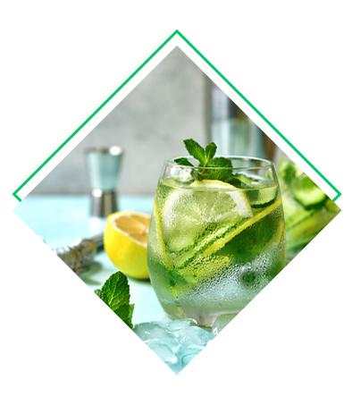 Eau citron vert - Concombre détox