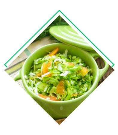 Salade de choux aux agrumes détox