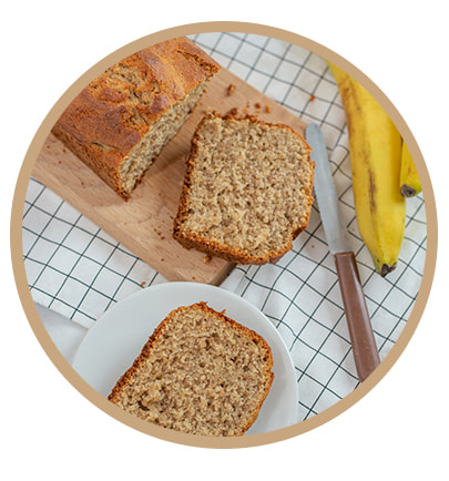 Banana Bread Vegan Protéiné