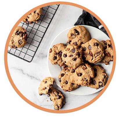 Cookies moelleux et hyperprotéinés