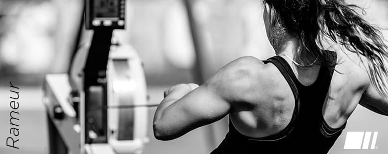 Les muscles sollicités avec un Rameur