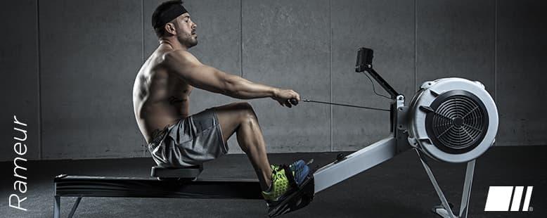 Muscles sollicités avec le Rameur