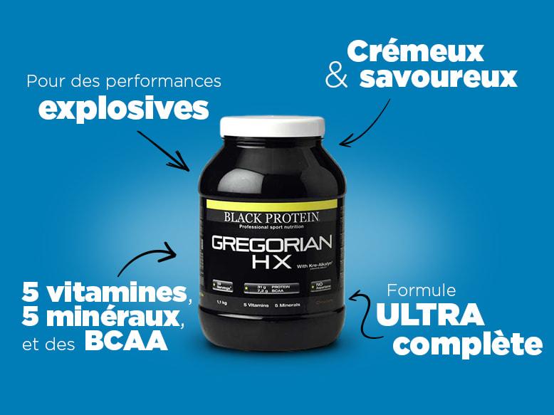 Gainer Gregorian Hx de Black Protein