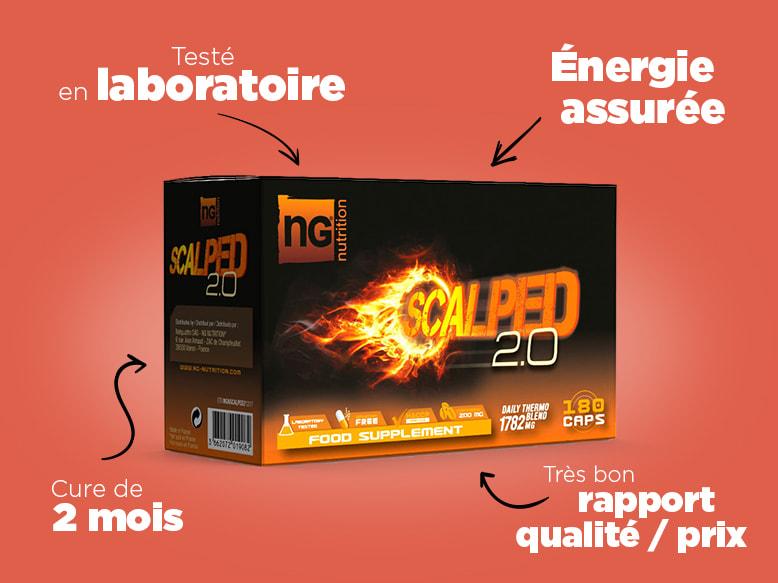 Brûleur de graisse Scalped 2.0 de NG NUTRITION