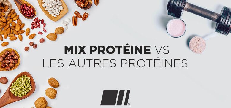Quelles différences entre le mix protéine et les autres protéines ?