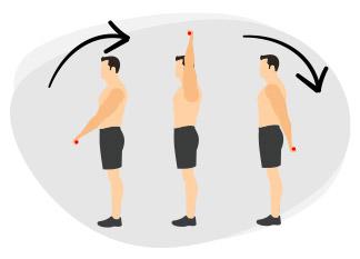 Epaules avec une barre de musculation