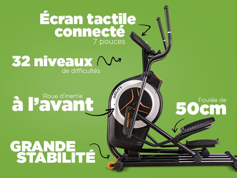 Vélo elliptique Agility de Moovyoo
