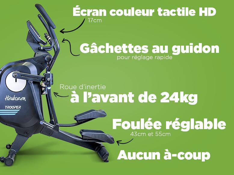Vélo elliptique Trooper de Heubozen