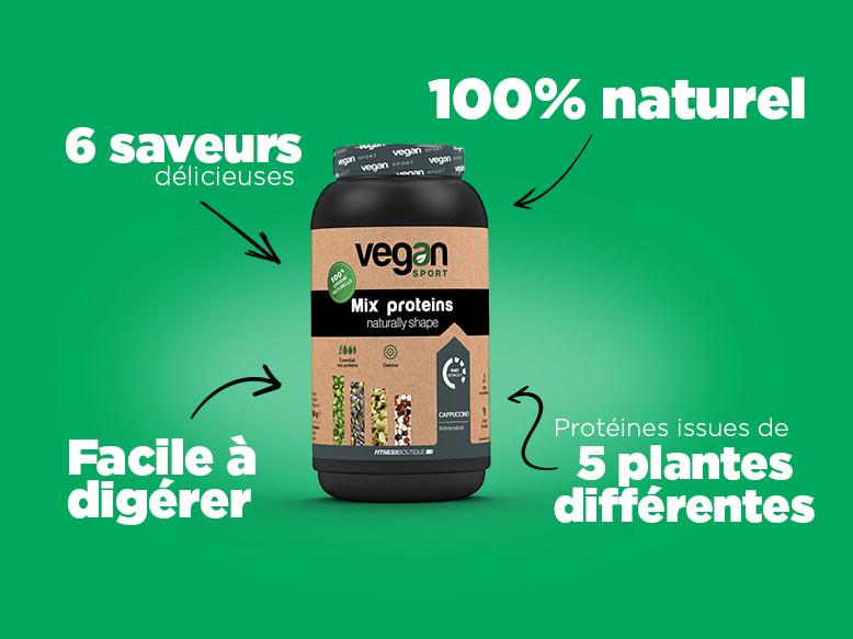 Protéines Végétales Mix Proteins Vegan Sport