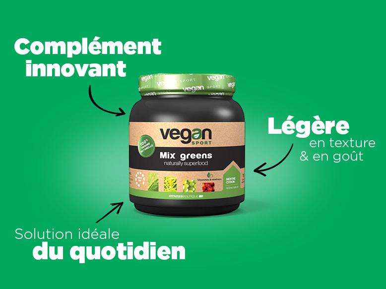 Protéines Végétales Mix Greens Vegan Sport