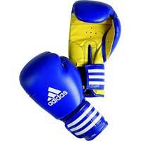 Gant de boxe Gant multiboxe PU3G Iprotech + Strap up technic Bleu/jaune 12oz