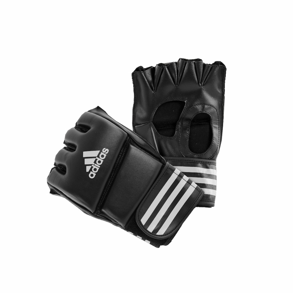Adidas Gant Combat Libre PU  sans pouce Noir/Blanc Taille M