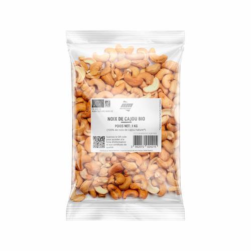 Produits Bio Noix de Cajou Bio AM Nutrition - Fitnessboutique