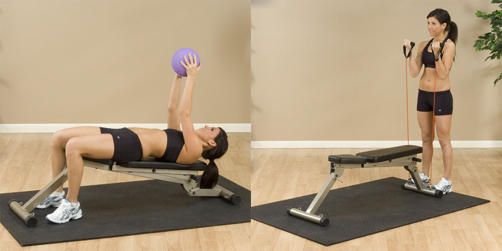 Best Fitness Banc incliné décliné pliable