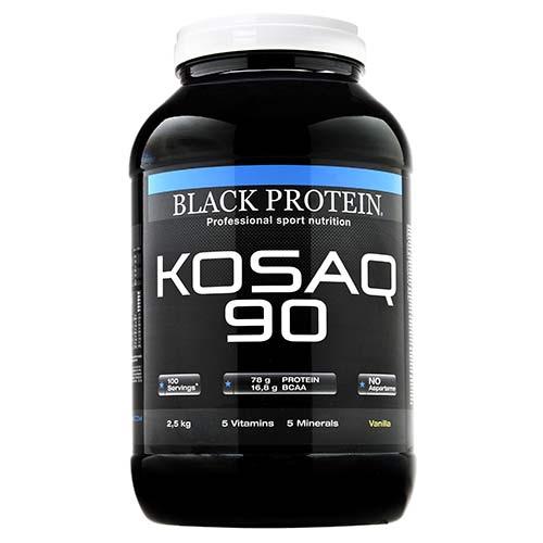 Protéines Kosaq 90 / Caséine BLACK-PROTEIN Vanille Pot de ...