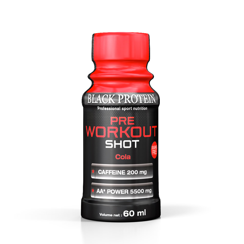 Black Protein Pre Workout Shot