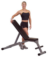 Banc de musculation Powerline Banc incliné décliné pliable