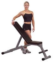 Banc de Musculation Banc incliné décliné pliable Powerline - Fitnessboutique