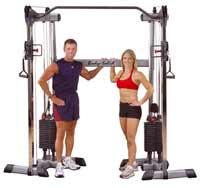 Postes isolés Bodysolid Centre D'entraînement à cables