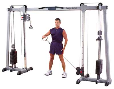 Poste pectoraux et épaules Bodysolid Deluxe Cable Cross Over