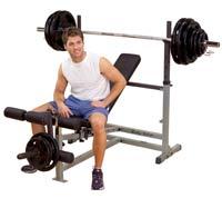 Banc de musculation PowerCenter Combo Bench Bodysolid - Fitnessboutique