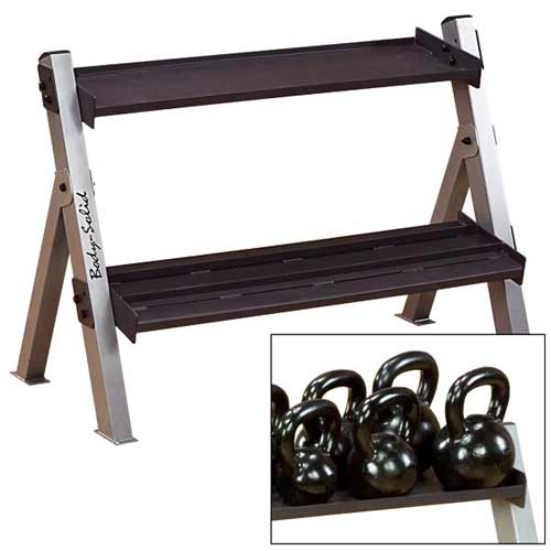 Bodysolid Kettlebell Rack Reversable For Hex