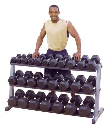 Support de rangement Bodysolid Rack Haltères 2 Niveaux