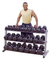 Support et Rack de Rangement Bodysolid Rack Haltères 2 Niveaux