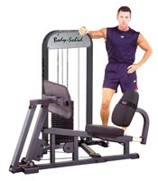 Postes isolés Bodysolid Leg Press W/210LB Stack Presse à Cuisse Guidée