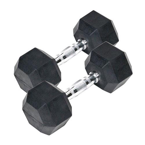 Barres et haltères spécifiques Bodysolid Paire d'haltères hexagonales caoutchouc