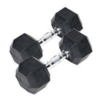 Barres et haltères spécifiques Paire Haltères hexagonales caoutchouc Bodysolid - Fitnessboutique