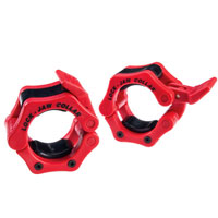 Olympique - Diamètre 51mm Bodysolid Olympic Lock-Jaw Collar Red