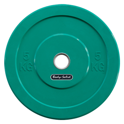 Bodysolid Olympic Bumper Plate Green 5 kg