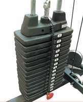 Support de rangement BODYSOLID Option 90,5kg de Poids pour cage à squat GPR378
