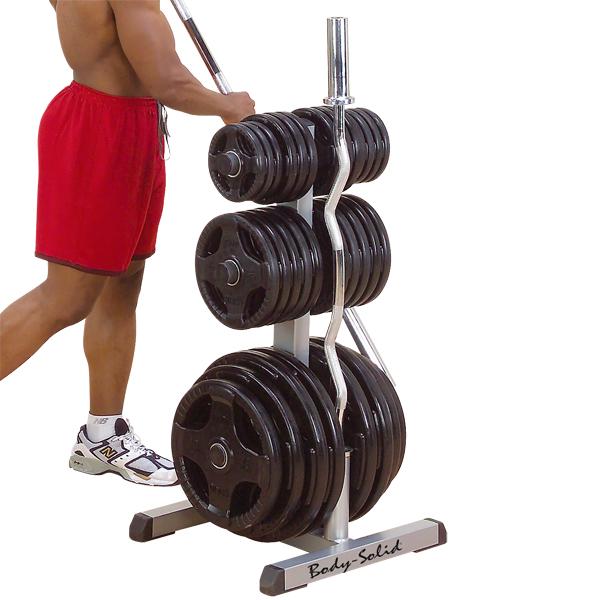 Bodysolid Rangement Disques et Barres Olympiques