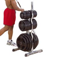 Support de rangement Bodysolid Rangement Disques et Barres Olympiques