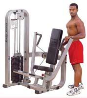 Poste pectoraux et épaules Bodysolid Club Line Chest Press Machine