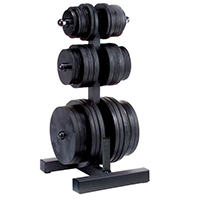 Support et Rack de Rangement Olympic Weight Tree & BarHolder