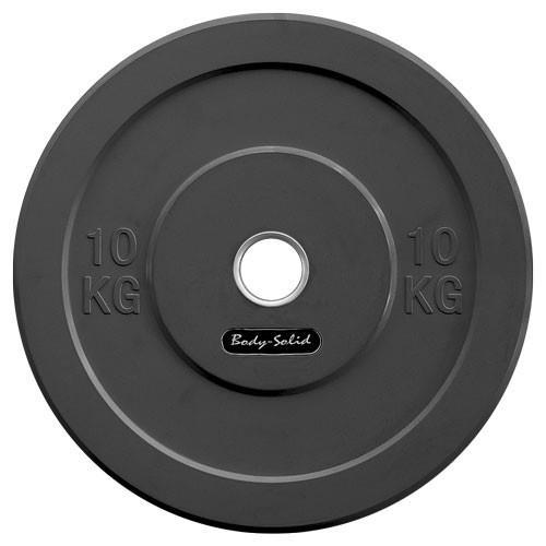Musculation Bodysolid Bumper Disques Noir