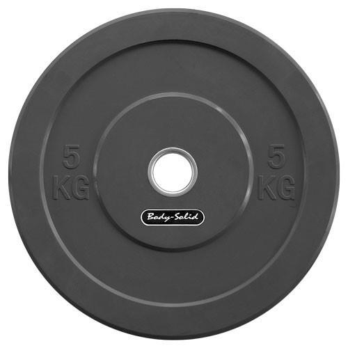 Olympique - Diamètre 51mm Bodysolid Bumper Disques Noir
