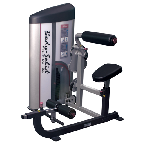 Poste abdominaux Bodysolid Club Line Ab Back 75 kg weight stack