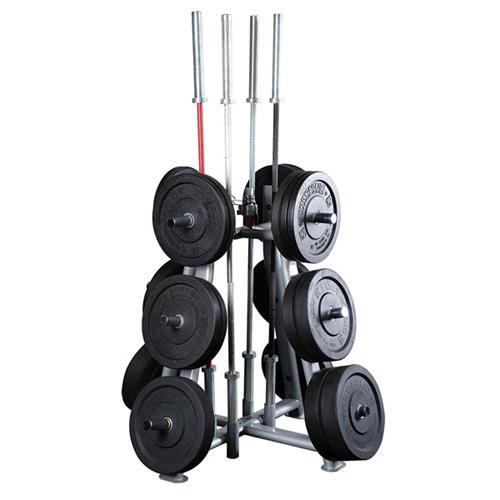 Support et Rack de Rangement Bodysolid Rangement de poids et barres Olympiques