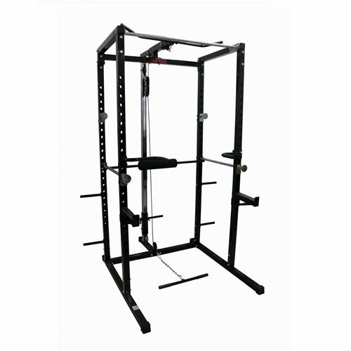 Cage à Squat Care Power Rack avec latissimus