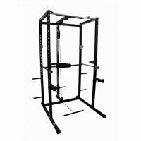 Cage à squat Power Rack avec latissimus Care - Fitnessboutique